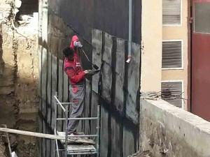 Хидроизолация на външна стена на жилищна кооперация